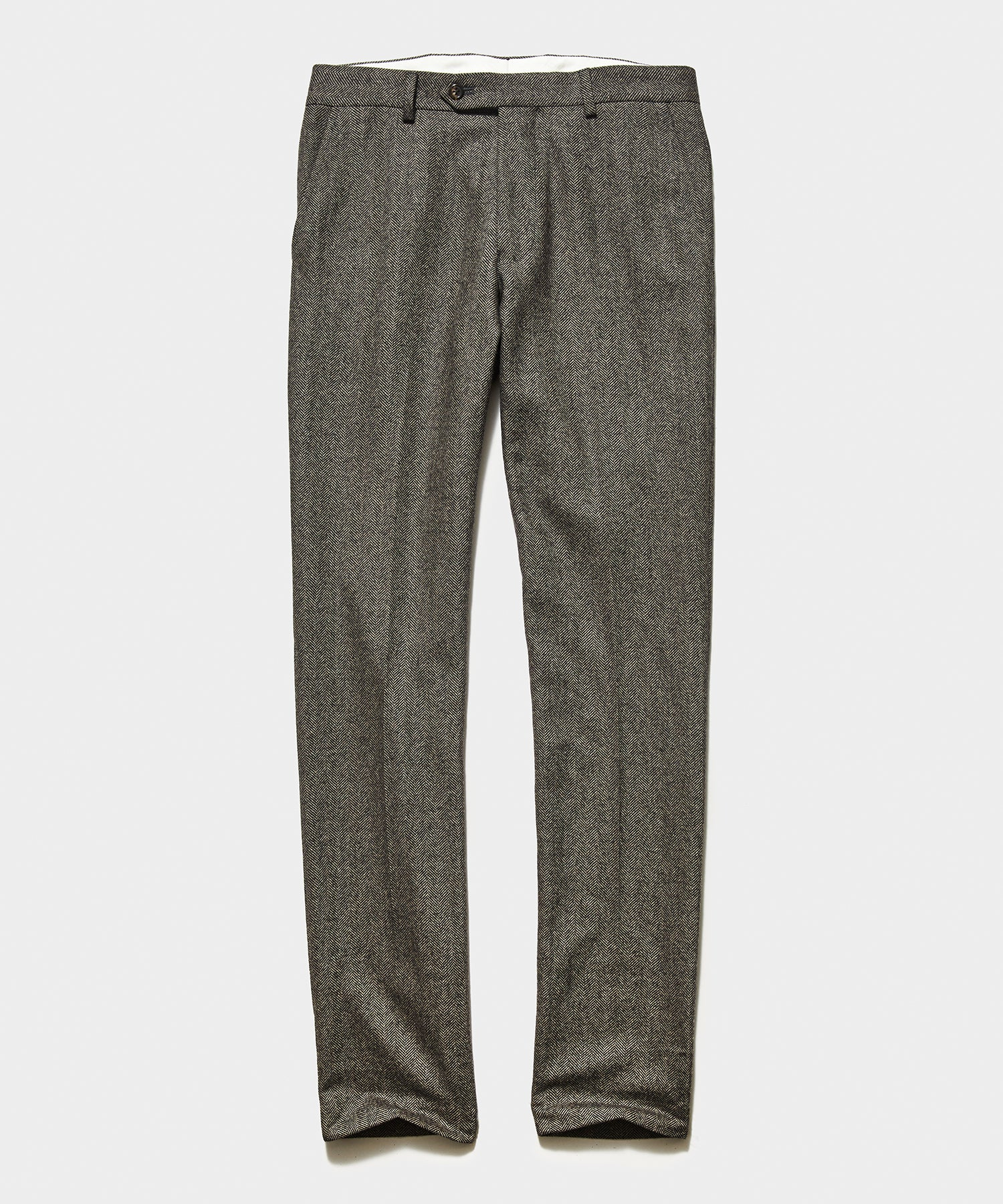 Sutton English Herringbone Trouser in Brown