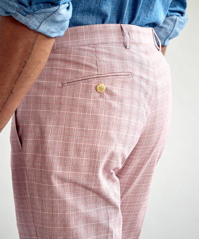 Red Check Tab Dress Trouser