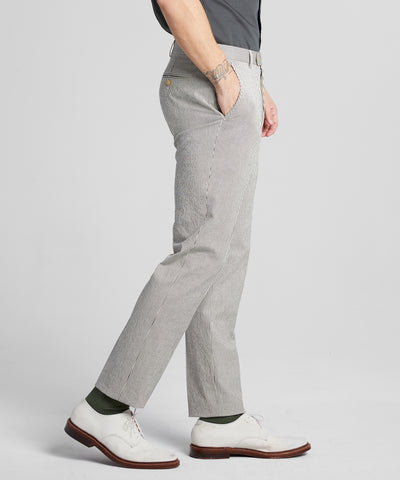 Seersucker Tab Dress Trouser