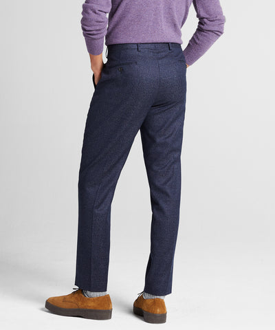 Sutton Speckled Wool Suit Trouser in Navy