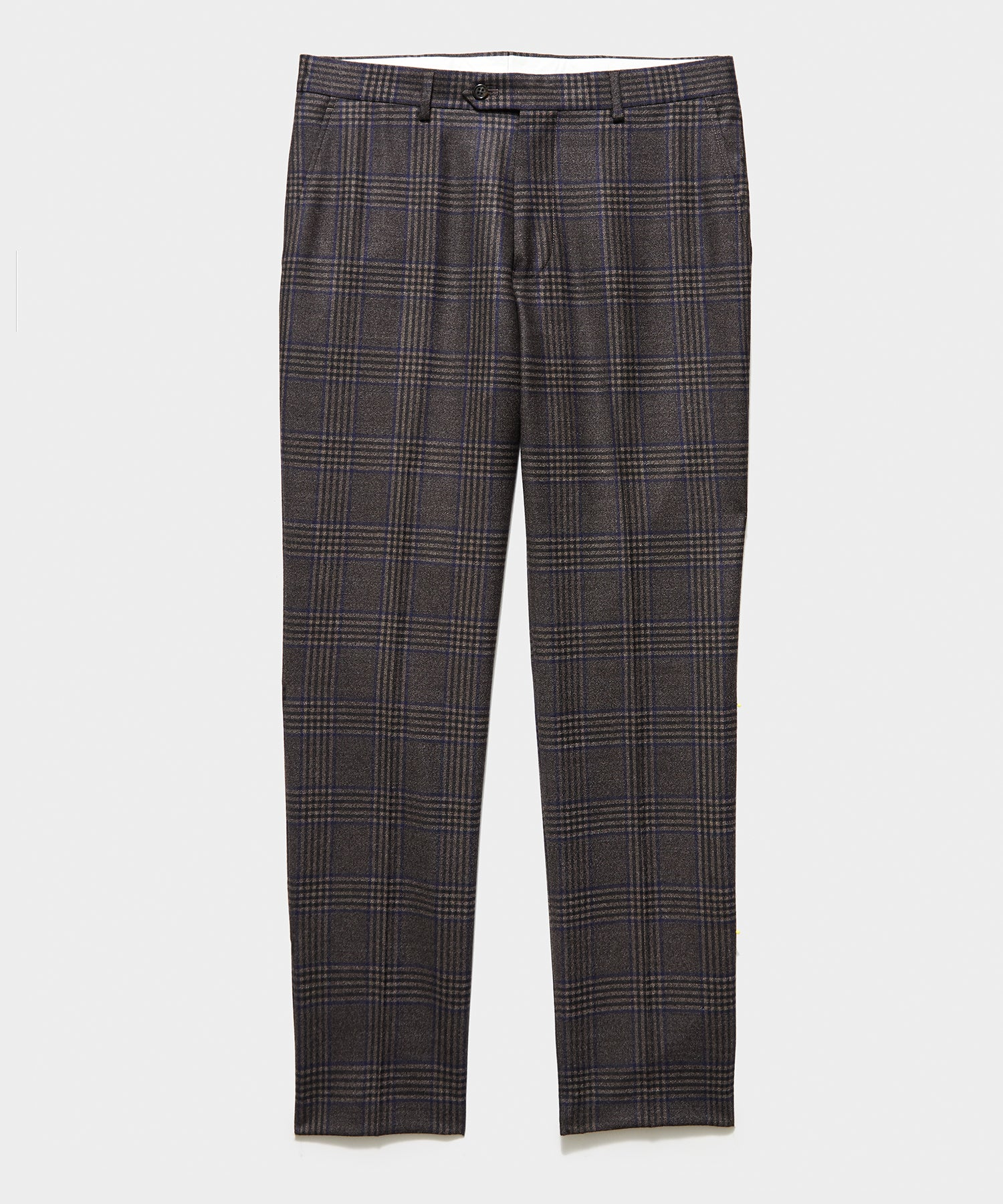 Italian Prince Of Wales Windowpane Trouser in Brown