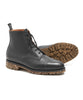 Sanders Black Leather Grain Lace Up Cap Toe Boot Alternate Image