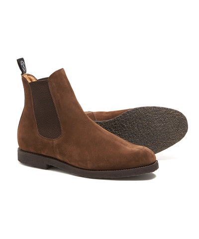 Sanders Chelsea Boots in Snuff Suede