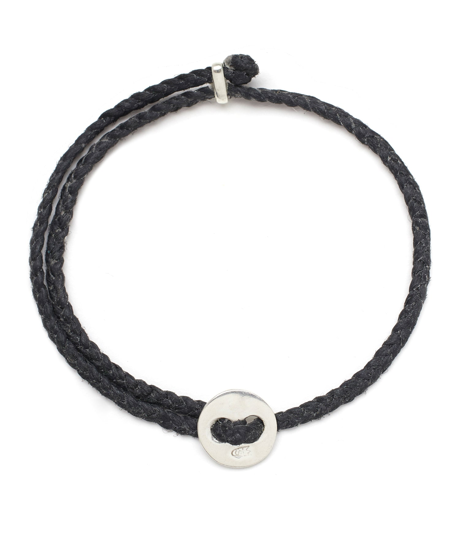 Scosha Signature 4MM Bracelet in Silver and Black