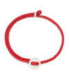 Scosha Signature 4MM Bracelet in Silver and Scarlet