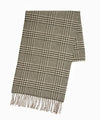 Drake's Glen Check Merino Wool Scarf in Natural