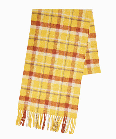 Drake's Vintage Check Scarf in Yellow