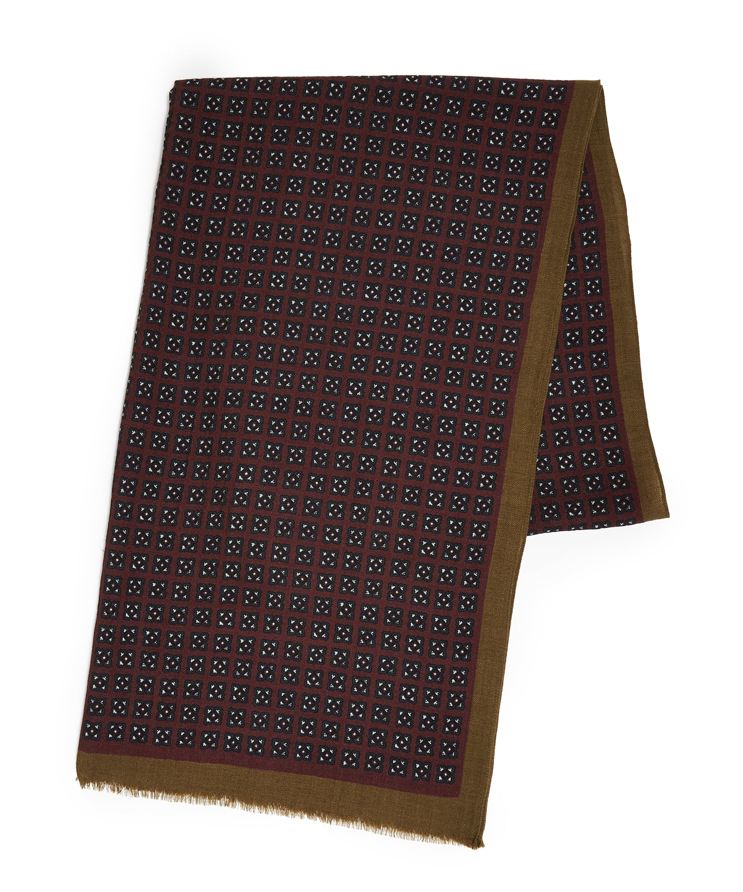Drake's Wine Miniature Square Medallion Print Scarf