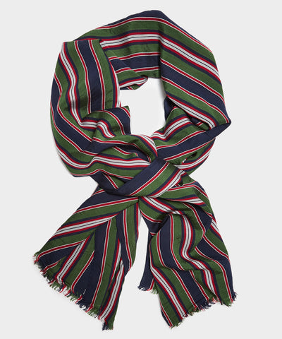 Drake's Lightweight Scarf in Multicolor Stripe