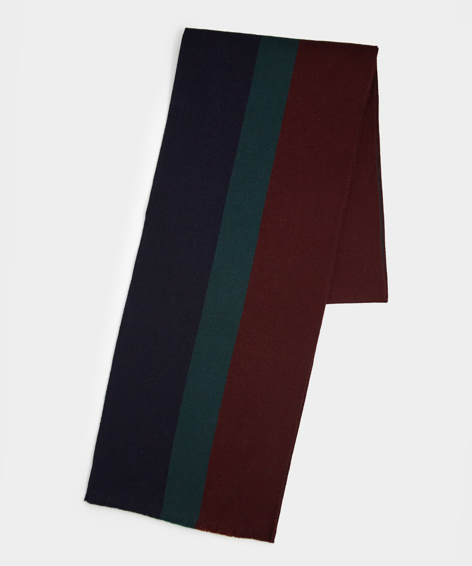 Drake's Regimental Stripe Scarf in Navy