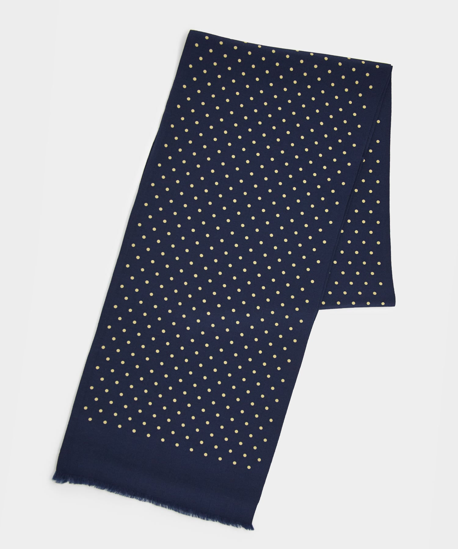 Drake's Two sided Tubular Silk Scarf Navy