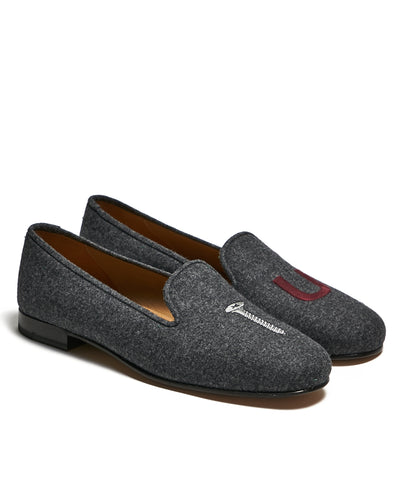 Stubbs & Wootton College Grey Flannel Slippers