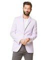 Corded Cotton Stripe Sportcoat in Lavender