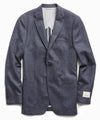 Sutton Lambswool/Cashmere Herringbone Sport Coat in Navy