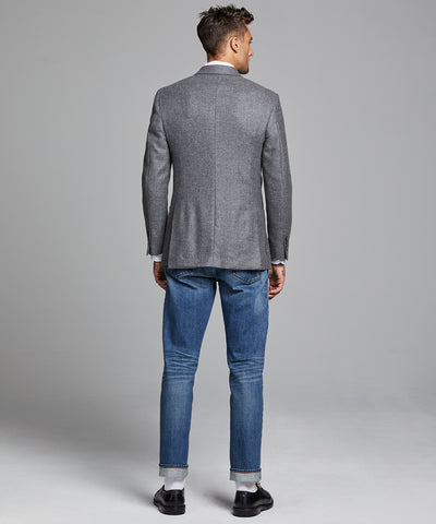 Sutton Lambswool/Cashmere Sportcoat in Grey Heather