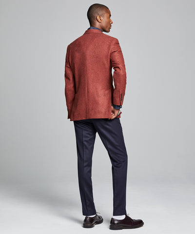 Sutton Lambswool/Cashmere Sport Coat in Red