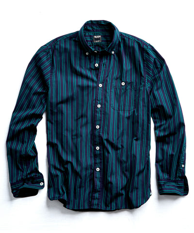 Stripe Button Down Shirt in Green