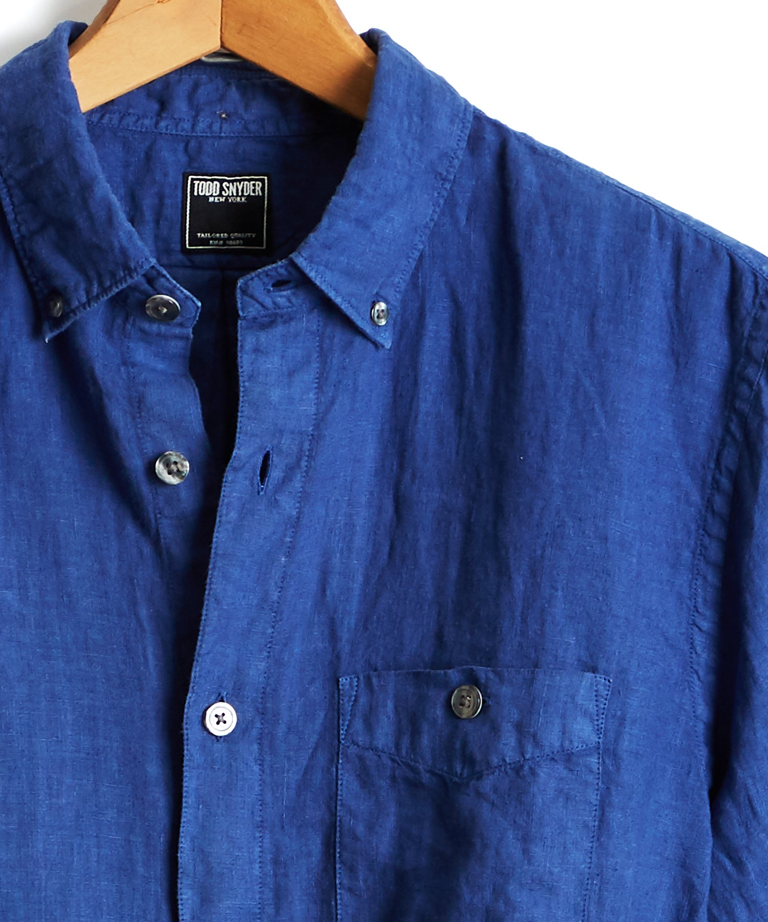 Button Down Linen Shirt in Blue