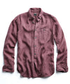 Button Down Linen Shirt in Mauve
