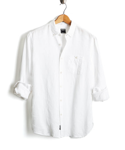 Button Down Linen Shirt in White