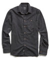 Brushed Cotton Cashmere Twill Shirt in Charcoal