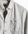 Brushed Cotton Cashmere Twill Shirt in Grey