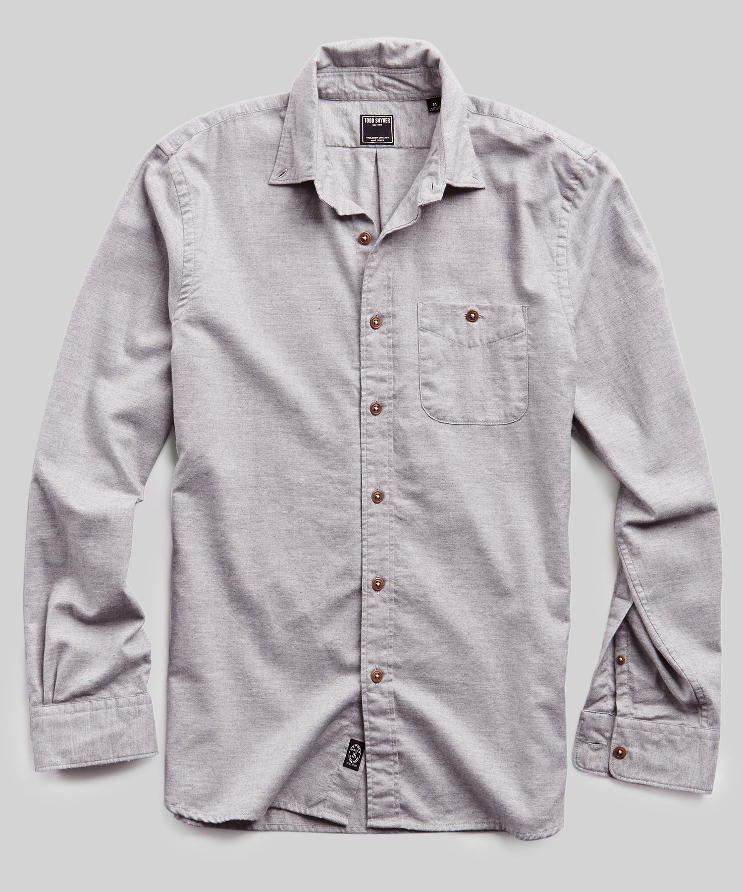 Todd Snyder Brushed Cotton Cashmere Twill Shirt