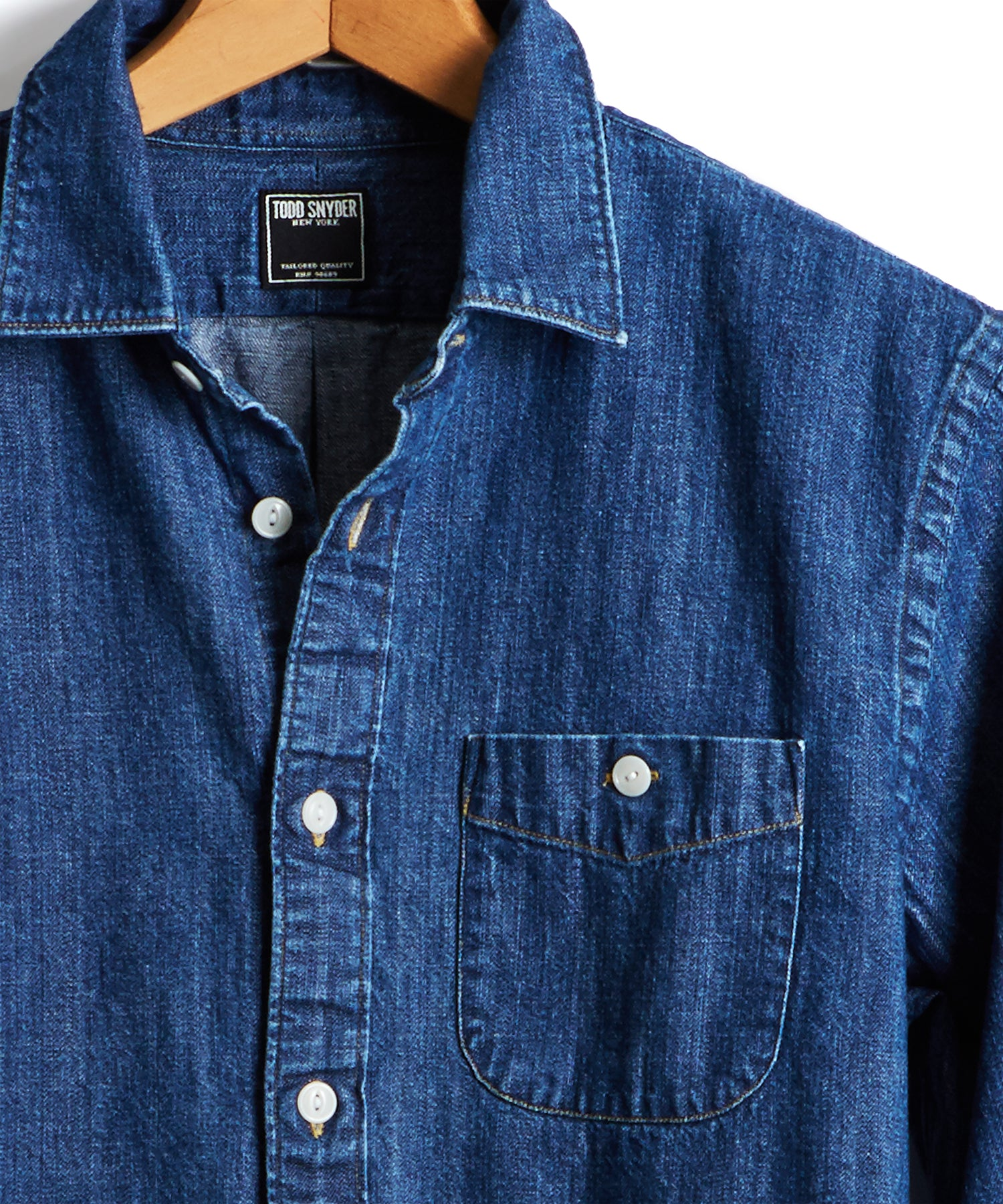 Indigo Denim Button Down Shirt
