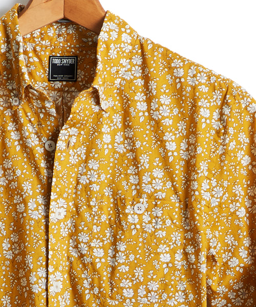Liberty Floral Print Shirt in Brass