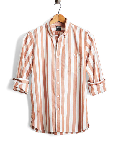 Camel Bold Stripe Oxford Shirt
