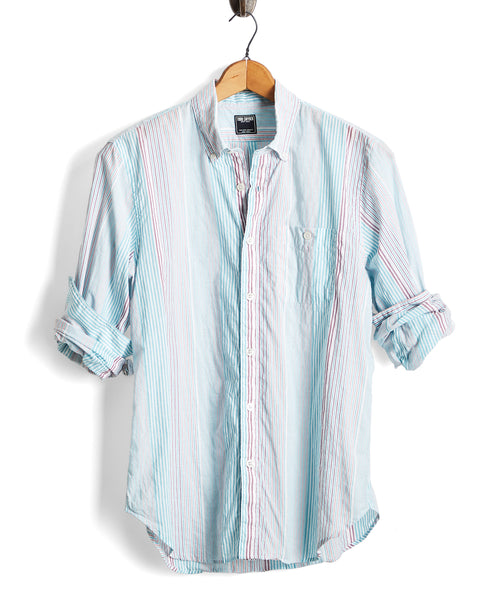 Lightweight Awning Stripe Button-down Shirt