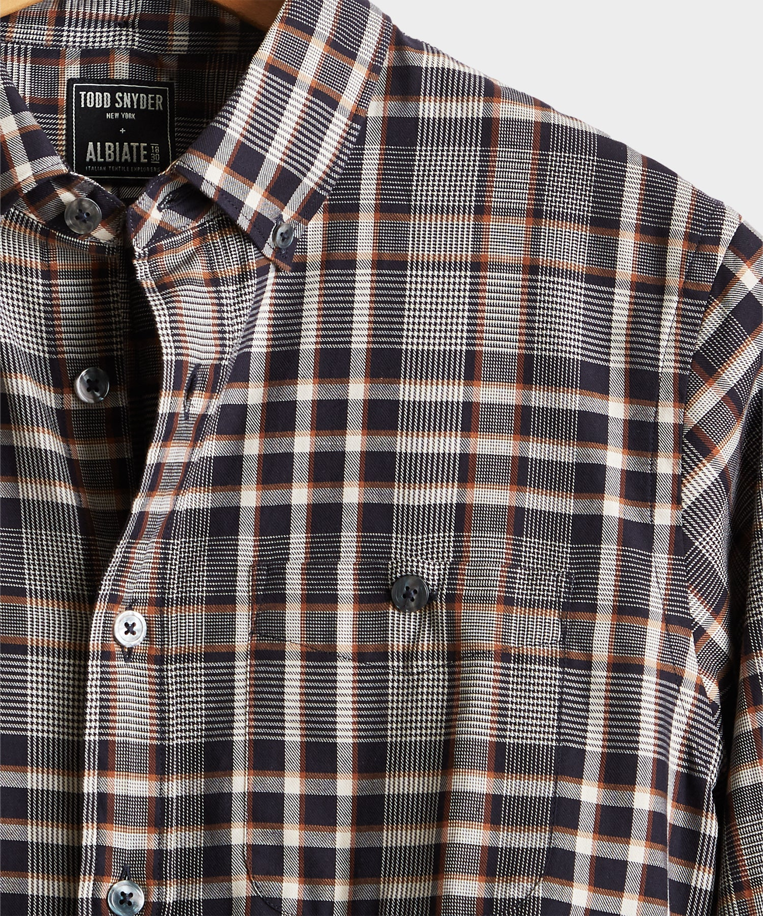 Brown and Black Check Button Down Shirt