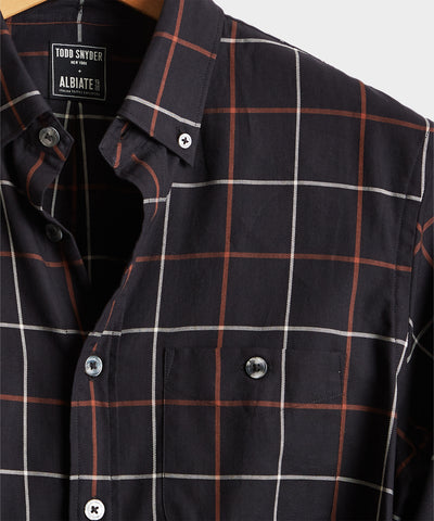 Windowpane Button Down in Black