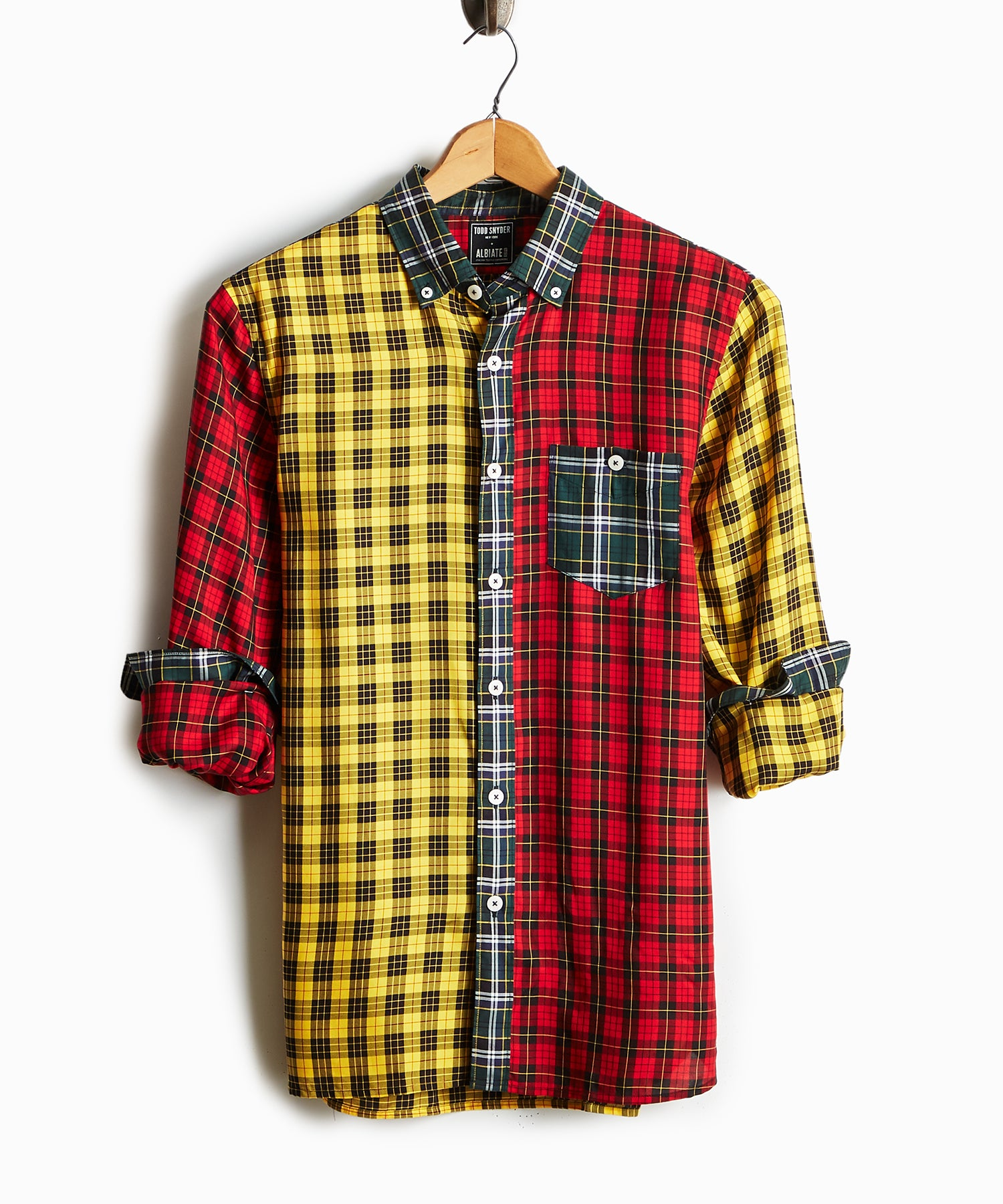 Button Down Holiday Tartan Cocktail Shirt