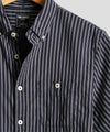 Button Down Multi-Stripe Shirt in Navy and White