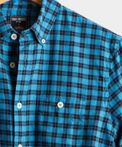Thomas Mason Blue Check Flannel Shirt