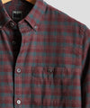Burgundy Plaid Flannel Shirt