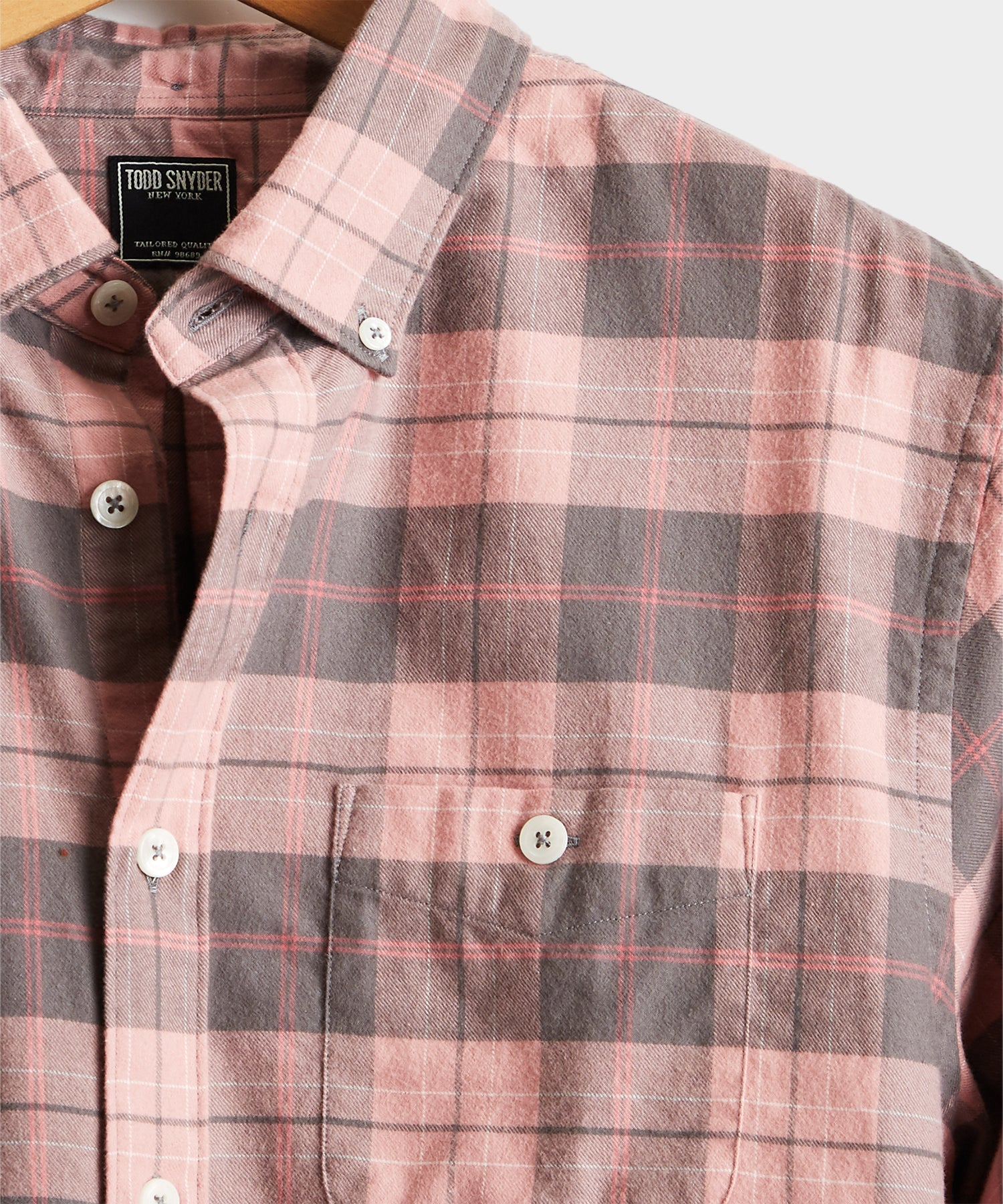 Pink Plaid Flannel Shirt