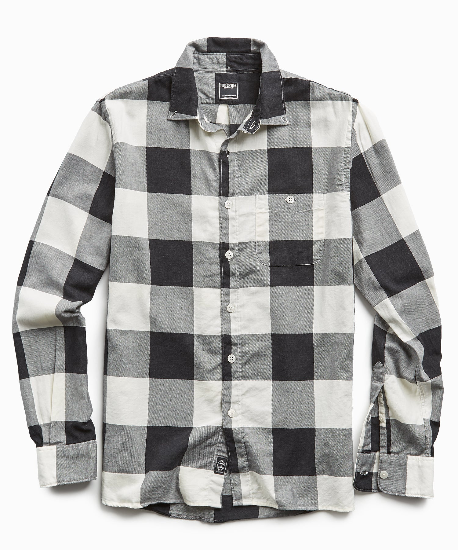 Portuguese Black and White Check Flannel Shirt