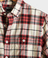 Portuguese Red Plaid Flannel Shirt