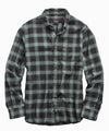 Thomas Mason Faded Green Plaid Flannel Shirt