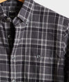 Thomas Mason Charcoal Plaid Flannel Shirt