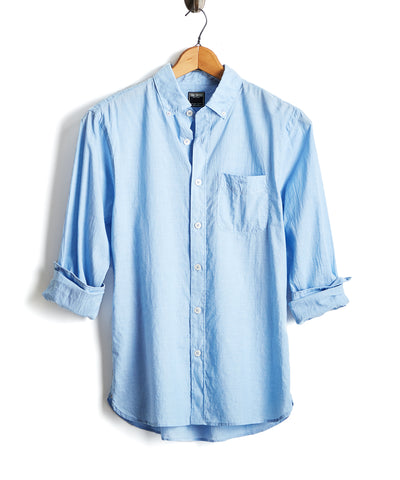 Lightweight Button Down Shirt in Blue