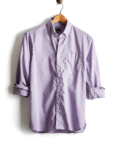Lightweight Button Down Shirt in Lilac