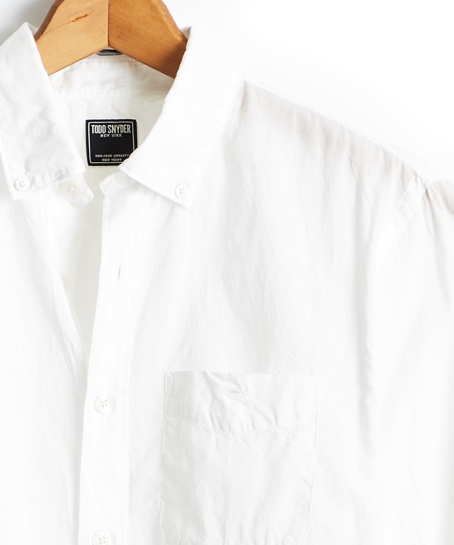 Lightweight Button Down Shirt in White