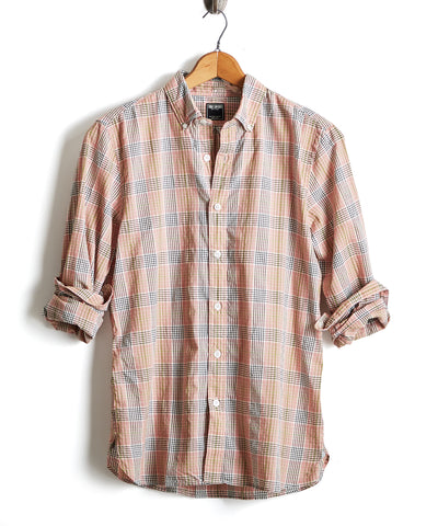 Lightweight Pink Madras Button Down Shirt