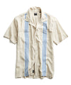 Short Sleeve Stripe Bowling Shirt