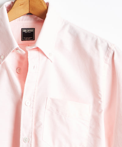 Solid Oxford Shirt in Pink