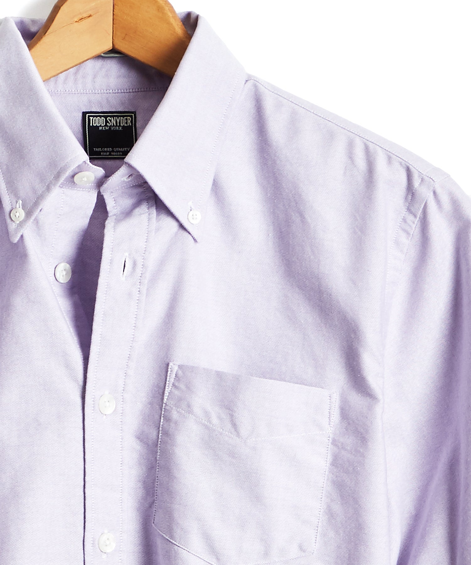 Solid Oxford Shirt in Purple