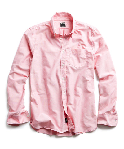 Solid Oxford Shirt in Red